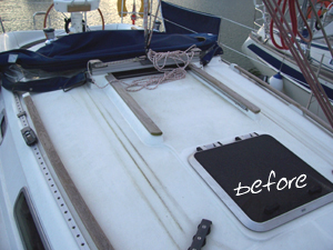 Boat Deck Top Before